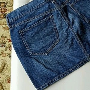 OLD NAVY Denim Mini Dark Wash Size 8